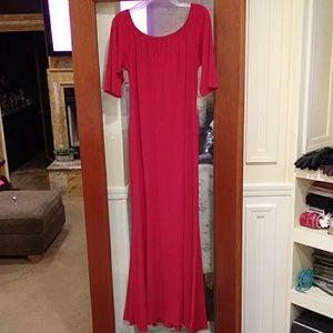 Ashley Stewart red maxi dress